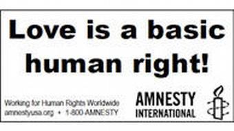 Плакат Amnesty International против гомофобии