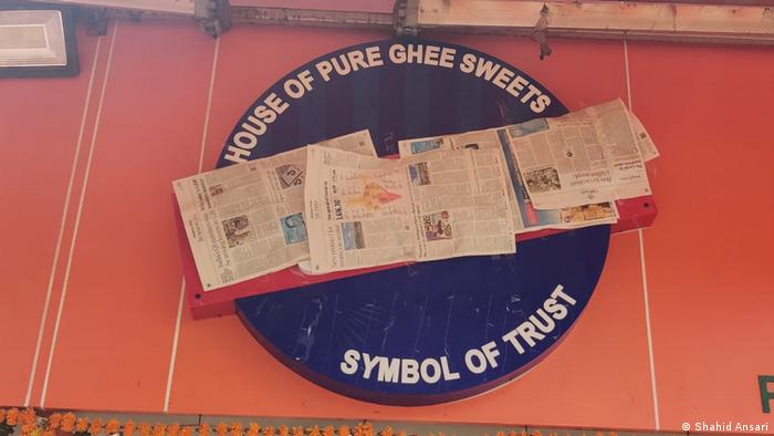Indien Mumbai Süßigkeiten-Geschäft Karachi Sweets