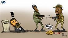 Karikatur Äthiopien Tigre Abiy Ahmed TPLF
