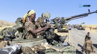 Soldats éthiopiens à la frontière avec le Tigré