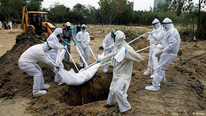 Iran Coronavirus Begräbnis