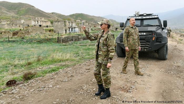Ільхам Алієв і його дружина Мехрібан у Нагірному Карабаху, 16 листопада 2020 року