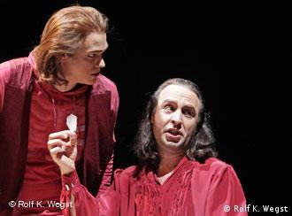 Сцена з Ревізору в Ґісенському театрі.