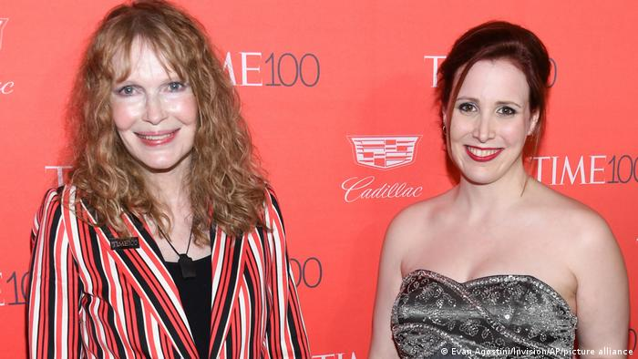 Mia Farrow (left) with her adoptive daughter Dylan at the Lincoln Center, New York in April 2016