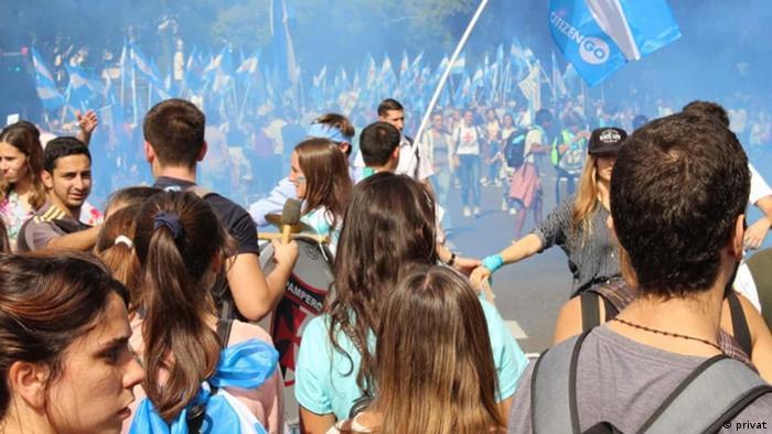 Argentinien Thema Abtreibung  Protest