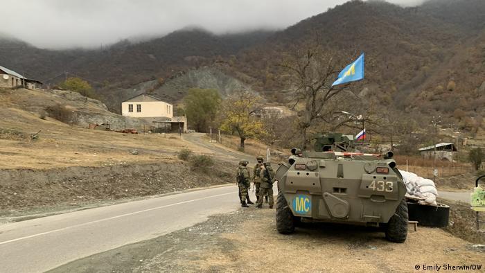 Российские миротворцы в Нагорном Карабахе в ноябре 2020 года