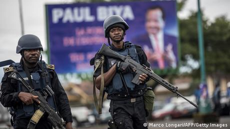 Two members of Cameroon's Gendarmerie