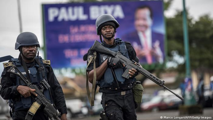 Two members of Cameroon's Gendarmerie