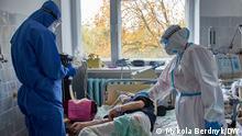 Ukraine Corona-Patienten im Krankenhaus in der Stadt Liubar