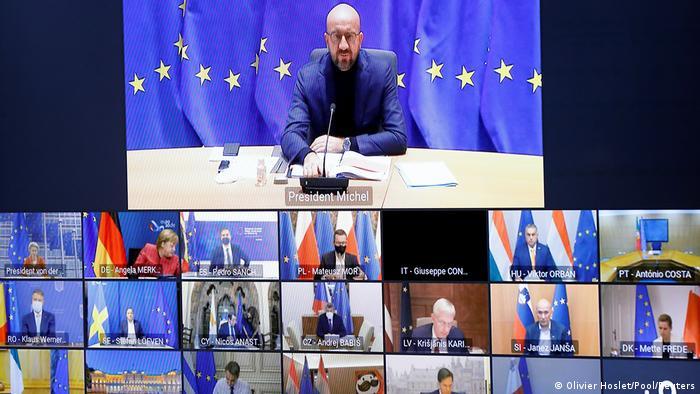 AB Konseyi Başkanı Charles Michel'in AB liderleriyle görüşmesinden