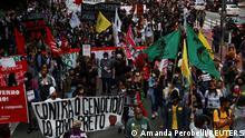 Brasilien Protest wegen dem Tod von Joao Alberto Silveira Freitas