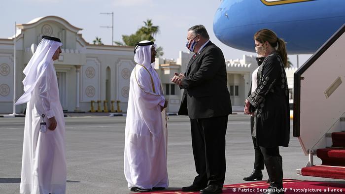 Katar Ankunft US-Außenminister Pompeo in Doha