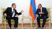 Armenien Nikol Paschinjan trifft Sergei Lawrow