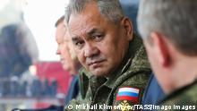 Russland Verteidigungsminister Sergei Shoigu