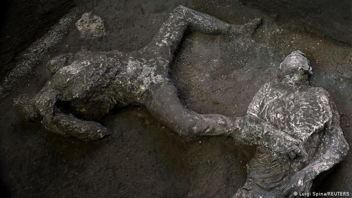 Remains of two men who died in the volcanic eruption that destroyed the ancient Roman city of Pompeii