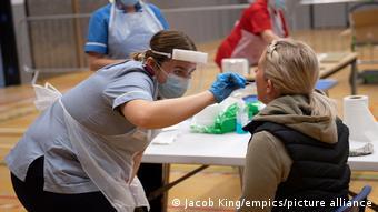 Тест на коронавирус в Англии