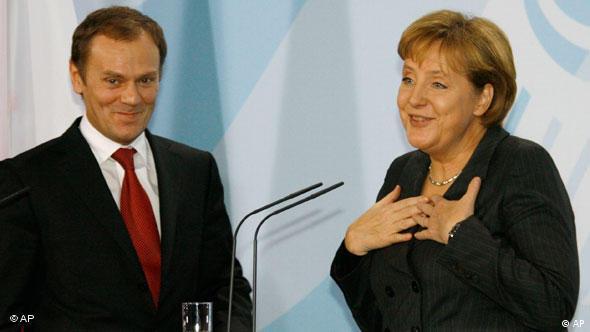Flash-Galerie Donald Tusk Angela Merkel