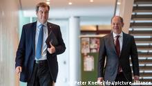 Deutschland I Markus Söder und Olaf Scholz I Kabinettssitzung