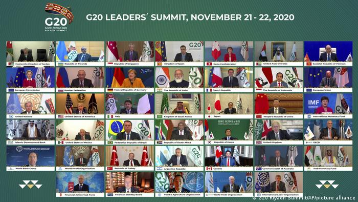 G20 leaders at virtual summit