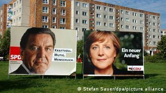 Aπό τον προεκλογικό αγώνα του 2005- Η Άγκελα Μέρκελ απέναντι στον Σοσιαλδημοκράτη καγκελάριο Γκέρχαρντ Σρέντερ