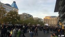 Deutschland Demo gegen Infektionsschutzgesetz in Frankfurt. Foto: DW Chinese am 14.11.2020
