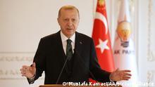 Türkei Rede Präsident Erdogan vor der AK Partei