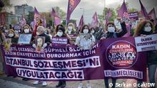 Türkei Istanbul |Protest von Frauen gegen Gewalt