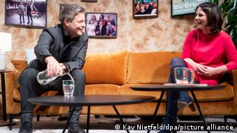 Robert Habeck sharing a laugh with Annalena Baerbock