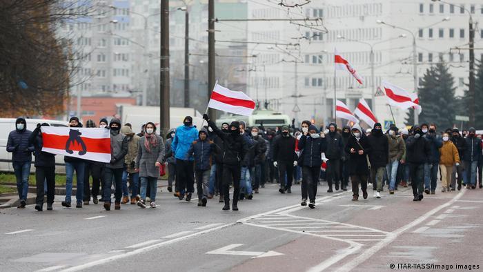 Акция протеста в Минске, 22 ноября