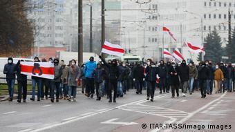 Марш против фашизма в Минске 22 ноября 2020 года