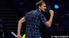 ATP World Tour Finale Tennis - London - - Daniil Medvedev Jubel