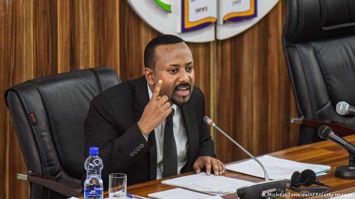 Ethiopia's Prime Minister Abiy Ahmed speaks