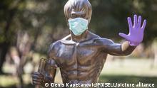 Bruce Lee Statue Mostar Bosnien