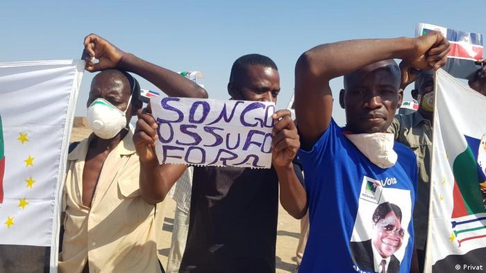 Mosambik   Protest gegen Ossufo Momade