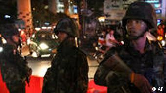 Thai soldiers were a constant presence in Bangkok in 2010