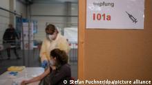 Deutschland Probelauf Impfzentrum in Ulm