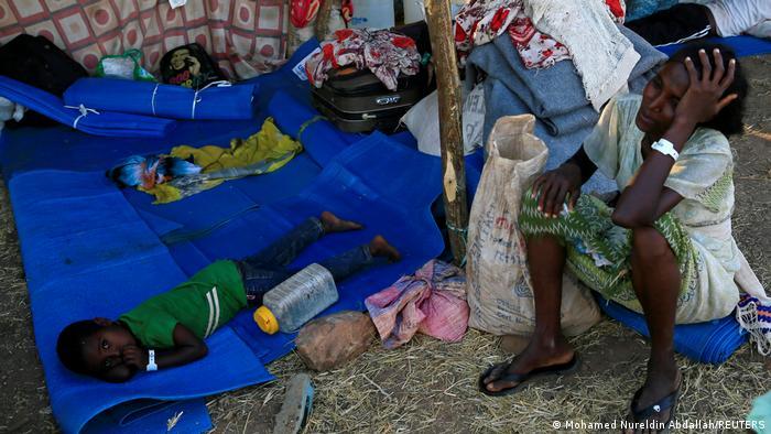 Flüchtlingselend im Lager Um-Rakoba an der äthiopisch-sudanesischen Grenze