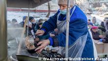 Russland Zyklon Hilfe Versorgung der Bürger