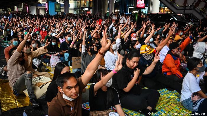 Protesters in Bangkok in November