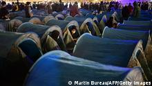 Frankreich Paris Zeltlager für Flüchtlinge am Place de la Republique