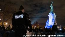 Polizeieinsatz an der Place de la Republique in Paris