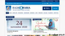 Italien | Radio Maria | Screenshot Website