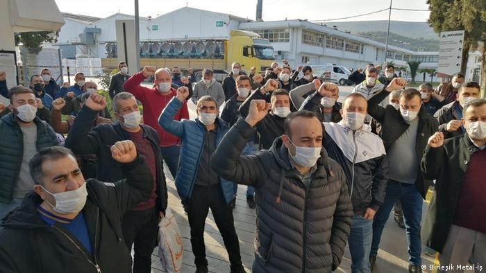 Türkei Protest der Gewerkschaft Birleşik Metal-İş