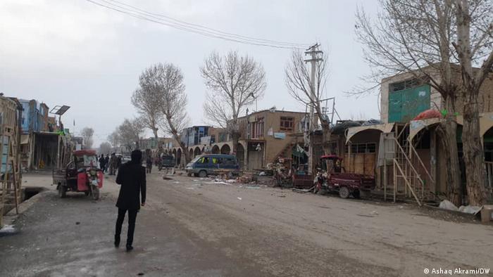 Scene in Bamiyan following the explosion