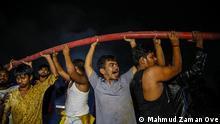 Bangladesch Dhaka Feuer Brand