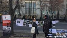 Protestaktion in Berlin vor der russischen Botschaft