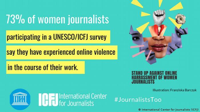 Kampagne International Center for Journalists #JournalistsToo