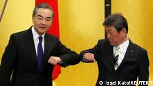 Japan Tokio | Wang Yi, Außenminister China & Toshimitsu Motegi