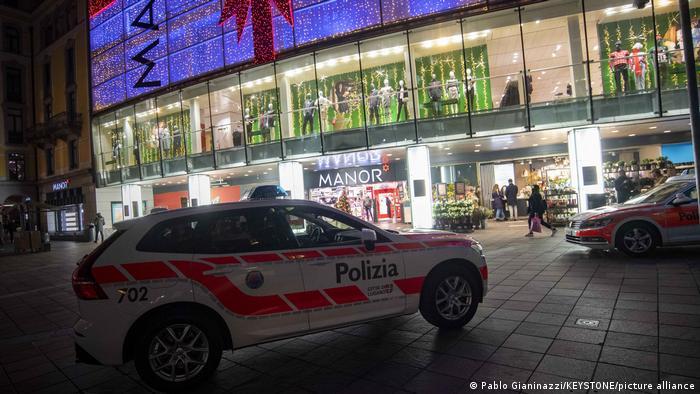 Торговый центр Manor в Лугано, где произошло нападение