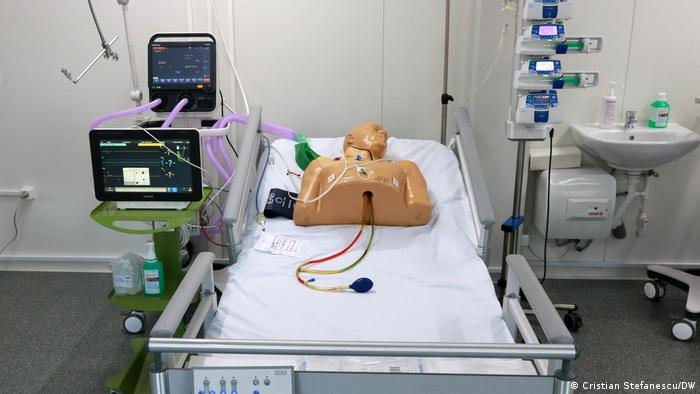 New intensive care beds on display in Bucharest